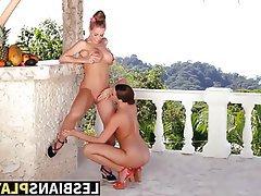 Ass Licking Babe Blonde Brunette Lesbian
